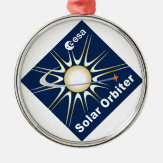 SOLAR ORBITER (SolO) Round Metal Christmas Ornament