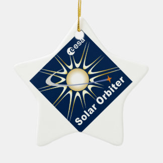 SOLAR ORBITER (SolO) Double-Sided Star Ceramic Christmas Ornament