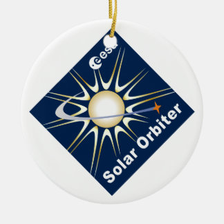 SOLAR ORBITER (SolO) Double-Sided Ceramic Round Christmas Ornament