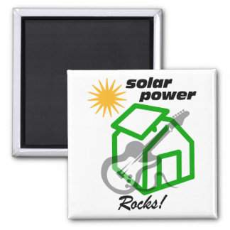 Solar p0wer rocks! 2 inch square magnet