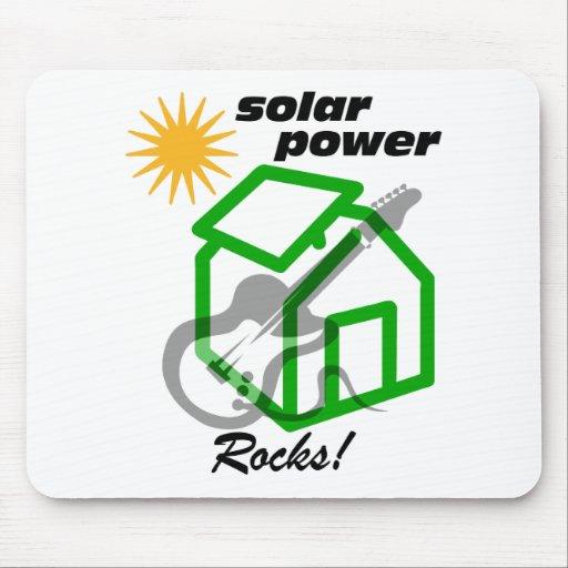 Solar p0wer rocks! mouse pad