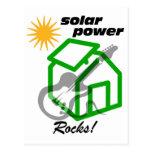 Solar p0wer rocks! postcard