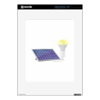 Solar panel and light bulb decal for the iPad