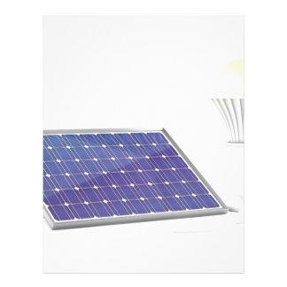 Solar panel and light bulb letterhead
