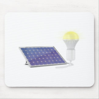 Solar panel and light bulb mouse pad