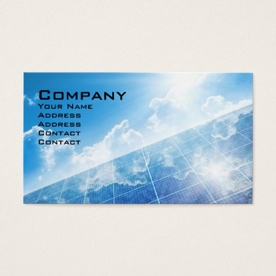 Solar panel business card zazzle solar panel business card colourmoves Image collections