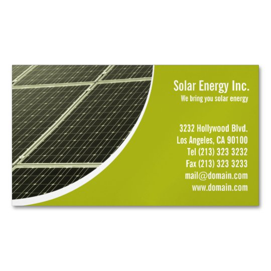Solar Panel Business Card Magnets Zazzle