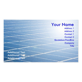 Solar Panel Double-Sided Standard Business Cards (Pack Of 100)