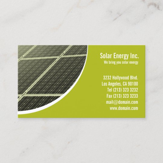 Solar panel green energy business card zazzle solar panel green energy business card reheart