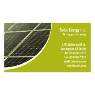 Solar Panel Green Energy Business Card