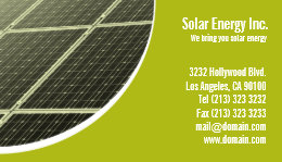 Solar energy business cards templates zazzle solar panel green energy business card reheart Image collections