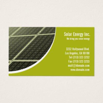 Solar home energy business card zazzle reheart Choice Image