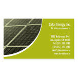 Solar Panel Green Energy Double-Sided Standard Business Cards (Pack Of 100)