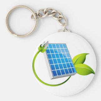 Solar Panel Leaf Plug Keychain