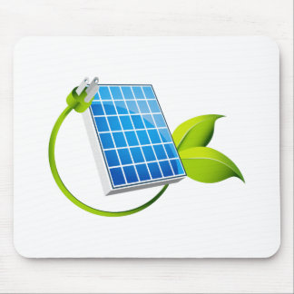 Solar Panel Leaf Plug Mouse Pad