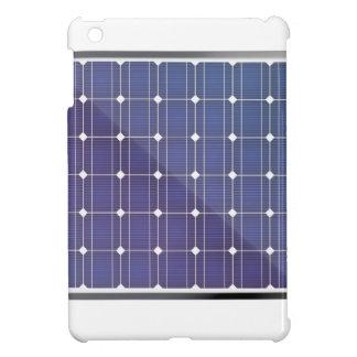 Solar panel on white iPad mini cover