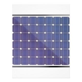 Solar panel on white letterhead