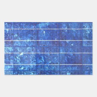 Solar panel rectangular sticker