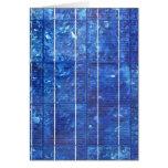 Solar panel tarjeta de felicitación