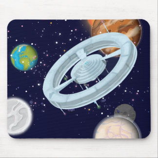 solar Panels cartoon Mouse Pad
