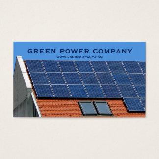 solar panels - green energy business card