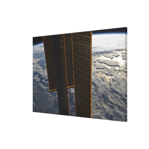 Solar panels of the International Space Station Stretched Canvas Prints