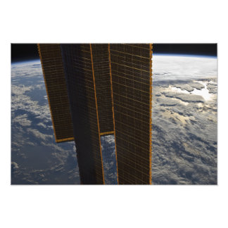 Solar panels of the International Space Station Photo Print