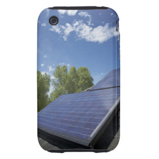 Solar panels on roof tough iPhone 3 case