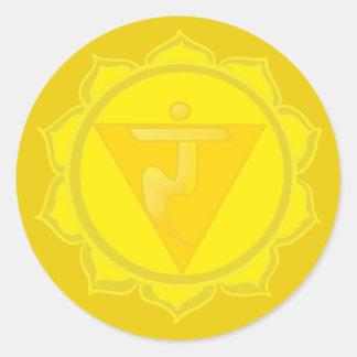 Solar Plexus Chakra Classic Round Sticker, Glossy Classic Round Sticker