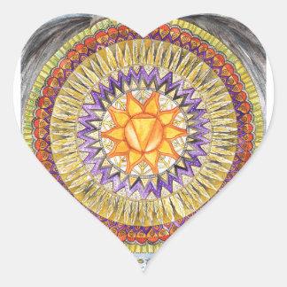 Solar Plexus Chakra Heart Sticker