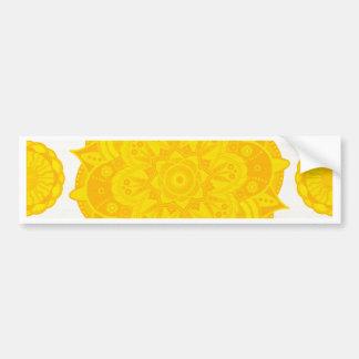 Solar Plexus Chakra Mandala Bumper Sticker