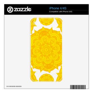 Solar Plexus Chakra Mandala iPhone 4 Decals