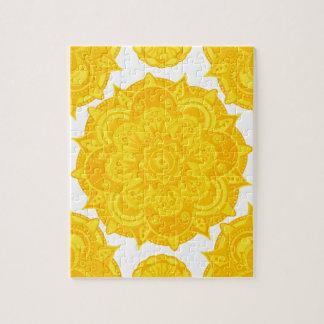 Solar Plexus Chakra Mandala Jigsaw Puzzle