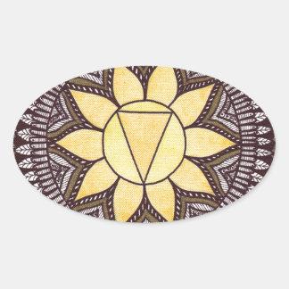Solar Plexus Chakra Mandala Oval Sticker