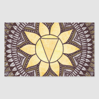 Solar Plexus Chakra Mandala Rectangular Sticker