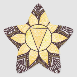 Solar Plexus Chakra Mandala Star Sticker