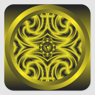 Solar Plexus Chakra Mandala Sticker