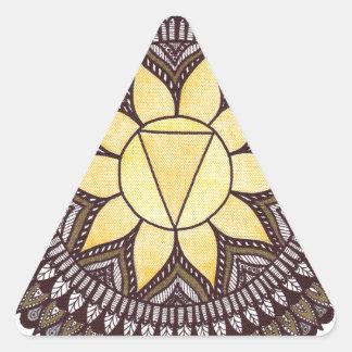 Solar Plexus Chakra Mandala Triangle Sticker