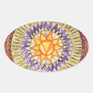 Solar Plexus Chakra Oval Sticker