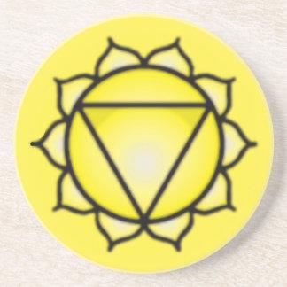 Solar Plexus Chakra Sandstone Drink Coaster