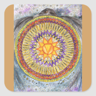 Solar Plexus Chakra Square Sticker