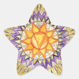 Solar Plexus Chakra Star Sticker