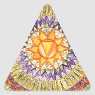 Solar Plexus Chakra Triangle Sticker