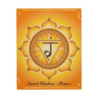 Solar Plexus Navel Chakra Yellow Pattern Print Wood Wall Decor