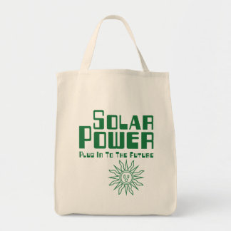 Solar Power Grocery Tote Bag