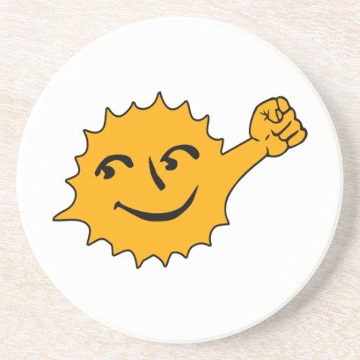 Solar Power Beverage Coaster