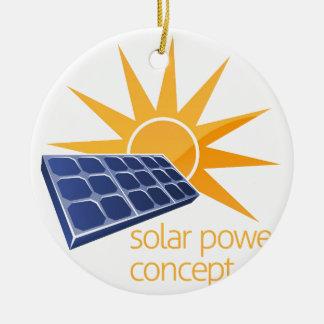 Solar Power Concept Ceramic Ornament