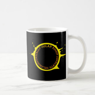 Solar power corrupts heliocentrically coffee mug