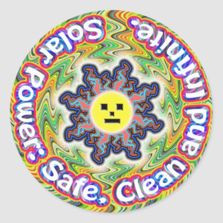 Solar Power. Electrical Outlet Face. stickers