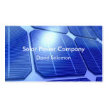Solar Power Energy Business Cards